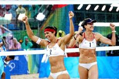 Misty May-Treanor and Kerri Walsh won the women's beach volleyball gold medal in 2004 and 2008. #TitleIX