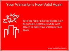 Re-validate your electronics warranty with this hack.
