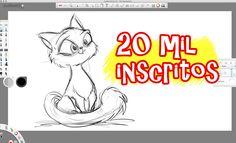 Como desenhar uma gata – 20 mil Inscritos | eudesenho