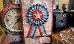 patriotic rosette card