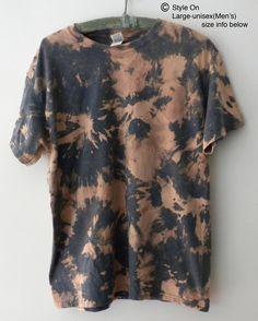 Tie Dye T Shirts, Tee Shirts, Tees, Orange Tie, Pale Orange, Acid Wash Shirt, Flower Shirt, Tie Dyed, Ready To Wear