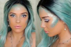 Mermaid hair and makeup ideas