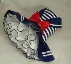 Dog Clothes - Dog dress.Nautical Maritime Sailor by Poshdog. Tutu by poshdog