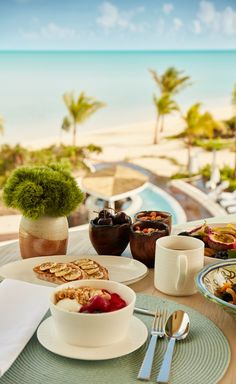 Breakfast with a view - room service style. The Shore Club Turks & Caicos Breakfast Buffet, Free Breakfast, All Flights, Turks And Caicos, Hotel Reviews, Banquet, Trip Advisor, Club, Dining