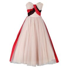 Vintage 1950's Pink Tulle Wrapped Sash Strapless Dress