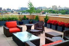 Roof Terrace New York Landscaping Amber Freda Home & Garden Design New York, NY