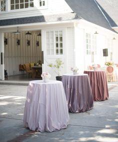 La Tavola Fine Linen Rental: Velvet Pink (front), Rose (middle) and Blush (back) | Photography: Studio EMP, Florals: Louloudi Floral Design, Tabletop Decor: Casa de Perrin, Chairs: Found Vintage Rentals