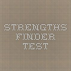 Strengths Finder Test