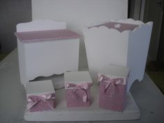 0 Decoupage, Kit Bebe, Wraps, Packing, Nursery, Country, Box, Pink Satin, Yerba Mate