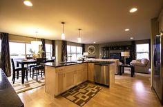 The Idea Home's open floorplan is wonderful for socializing.