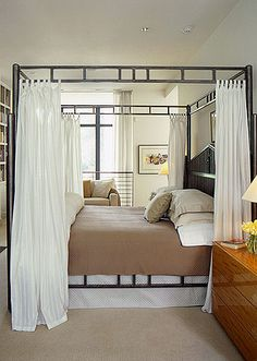The bed canopy is a nice twist on the traditional ones (not huge fan of canopies but this one is fun!)
