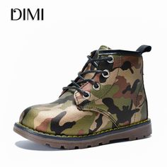 DIMI 2018 Children Boots Boys Girls PU Leather Waterproof Martin Boots  Fashion Ankle Girl Baby Boots Camouflage Kids Boy Shoes Review 1e2f5141f
