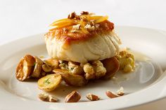 Seared Sea Bass, Roasted Cauliflower, Preserved Lemon, Hazelnut Brown Butter by D'Amico Catering, via Flickr