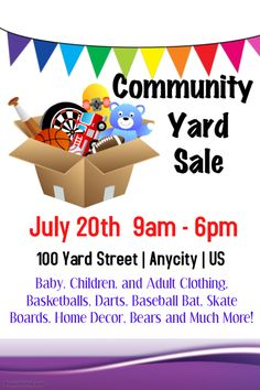 Garage Sale Poster Template Click On The Image To Customize On