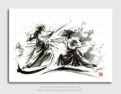 Samurai Samurai-Film-Plakat sieben von SamuraiArt auf Etsy
