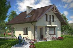 Projekt domu Piastów DM-6180 94,6 m2 - koszt budowy 110 tys. zł - EXTRADOM Shed, Construction, Outdoor Structures, Landscape, Outdoor Decor, Modern Houses, Home Decor, Building, Modern Homes