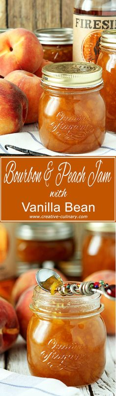 Bourbon and Peach Jam with Vanilla Bean from @creativculinary