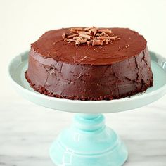This intensely dark chocolate cake is a must for serious chocoholics - it contains over 1 full pound of chocolate!