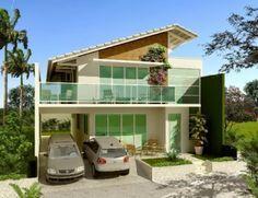 TELHADO - Fachadas de casas de sobrados – veja 50 modelos lindos!