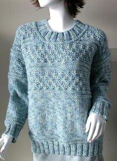 Ravelry: Gansey Style Pullover pattern by Barbara Goldstein