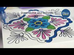 Como realizar un falso azulejo con dimensionales 3d Eq Arte? - YouTube