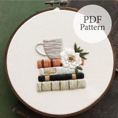 Floral Embroidery Patterns, Hand Embroidery Tutorial, Simple Embroidery, Modern Embroidery, Embroidery Hoop Art, Finishing Embroidery Hoop, Embroidery Designs For Sale, Embroidery Fashion, Machine Embroidery