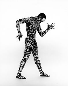 Keith Haring Body Paint Art #haring #painting #bodypainting #art