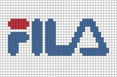 Fila Pixel Art- # Pixel - Places to Visit - Lego Graph Paper Drawings, Graph Paper Art, Pixel Art Marque, Pixel Art Minecraft, Pixel Pixel, Loom Patterns, Beading Patterns, Pixel Art Logo, Cross Stitch Designs