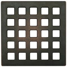 ebbe-America™ Oil Rubbed Bronze Unique Mission Square Shower Drain Grate-E4803-ORB