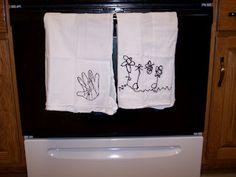 kid art kitchen towels - Create with Kiddos