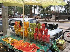 Mexican Fruit Stand- Reminds me of Nuevo Laredo.