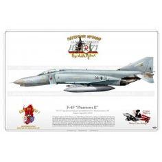 "F-4F ""Phantom II"" 38+01 JG71 ""Richthofen"" JP-1048 Sardinia Island, Harley Davidson Online Store, Swedish Air Force, F4 Phantom, Aviation Art, Luftwaffe, Vietnam War, Fighter Jets, Aircraft"