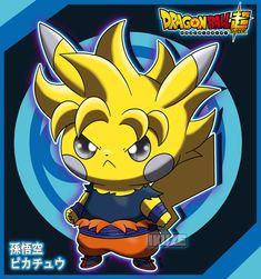 Pikachu x Dragon Ball Super, Pokemon Pokemon Avatar, Pokemon Dragon, O Pokemon, Pokemon Fan Art, Pikachu Drawing, Pikachu Art, Cute Pokemon Wallpaper, Cute Cartoon Wallpapers, Pikachu Costume