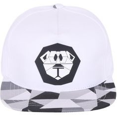 ililily Lion Paper Folding Rubber Logo New Era Style Snapback Hat... ($20) ❤ liked on Polyvore featuring accessories, hats, lion hat, ball cap hats, logo baseball caps, baseball cap and baseball cap snapback