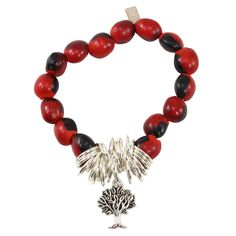 Evelyn Brooks Designs Peruvian Bracelet for Women - Huayruro Red and Black Seeds, Dragonfly charm - Ecofriendly Jewelry by EB * Sincerely hope that you do like our image. (This is our affiliate link) Link Bracelets, Beaded Bracelets, Stretch Bands, Meaningful Gifts, Good Luck, Tree Of Life, Elegant Sophisticated, Seeds, How Are You Feeling