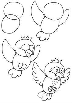 Схемы рисунков для детей. Рисование карандашом.