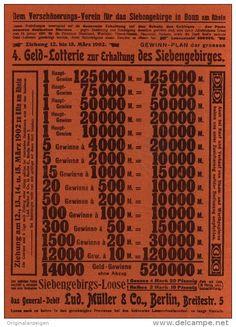Original-Werbung/Inserat/ Anzeige 1902 : 1/1 SEITE: SIEBENGEBIRGE-LOTTERIE / MÜLLER BERLIN - ca. 180 X 250 mm