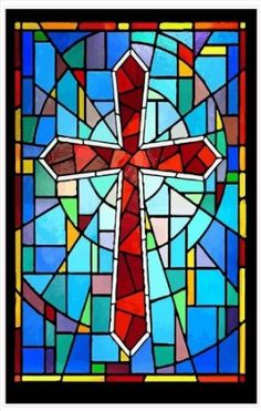 This Melted Crayon Stained Glass Window Cross Suncatcher Is A New - Stained glass window stickers amazon