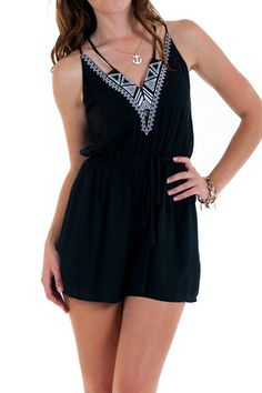 Embroidered Rayon Romper   Lavo Collections