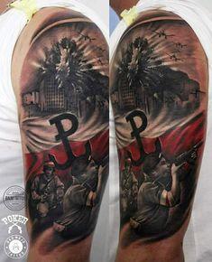Polish Tattoos, Patriotic Tattoos, Yui, Back Tattoo, Sleeve Tattoos, Poland, Tatoos, Military, Lifestyle