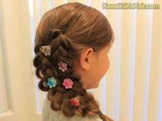 入学式の女の子の三つ編みの髪型7