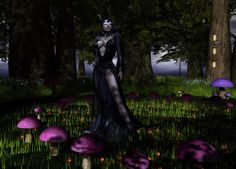 The Dark Queen traveled thrue the closed Fantasy Faire, with a heart full of sorrow. Morning Dew, Early Morning, Dark Queen, Secret Places, Lush Green, In The Heart, The Darkest, Garden Sculpture, Fantasy