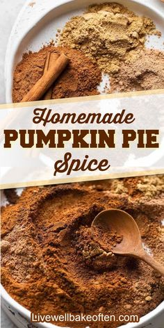 Learn how to make pumpkin pie spice from Live Well Bake Often in less than 5 minutes with just a few common spices. Perfect for fall cookies, breads, pies, and more! This recipe is perfect to use for all your Fall treats and snacks! If you love all things pumpkin spice, use this recipe today! Homemade Pumpkin Pie Spice Recipe, Pumpkin Recipes, Canned Pumpkin, Pumpkin Spice, Pumpkin Puree, How To Make Pumpkin, Fall Cookies, Dessert From Scratch, Fall Treats