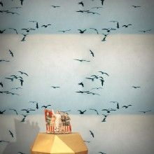 Portuguese Seagulls Wallpaper – Frost & Sand