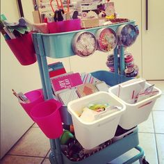 idea for scrapbooking storage... all made Ikea