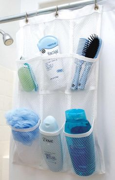 6 Mesh Pockets allow you to store your personal items needed in the shower. Connects to the existing shower curtain with ease. *Please allow 2-5 business days f