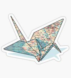 map paper crane