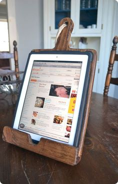 kitchen ipad stand inspired by pottery barn, make this for $5