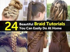 Braids can be difficult to master at first, but once you have the hang of the basics, its amazing how easy it is to make Short Hairstyles Fine, Dance Hairstyles, Cool Braid Hairstyles, Braided Hairstyles Tutorials, Great Hairstyles, Braid Tutorials, Hairstyle Ideas, Step Hairstyle, School Hairstyles
