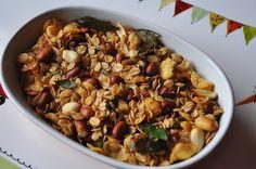 Oats Cornflakes chiwda ~ Indian Spicy oats muesli